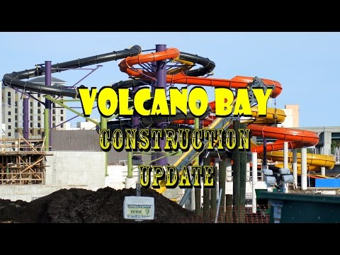 Universal's Volcano Bay Construction Update 6.23.16 FIRE DAMAGE / NEW SLIDES / TONS OF WORK!