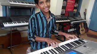 pachha bottesina song from baahubali on keyboard by swaroop