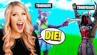 TROLLING PRESTONPLAYZ IN FORTNITE SIMON SAYS!