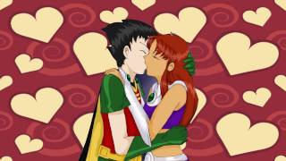 My First Kiss (Starfire and Robin)