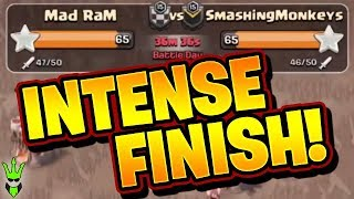 THE MOST INTENSE WAR WE HAVE EVER HAD! - Live Finish with Commentary! - Clash of Clans - Mad RaM War