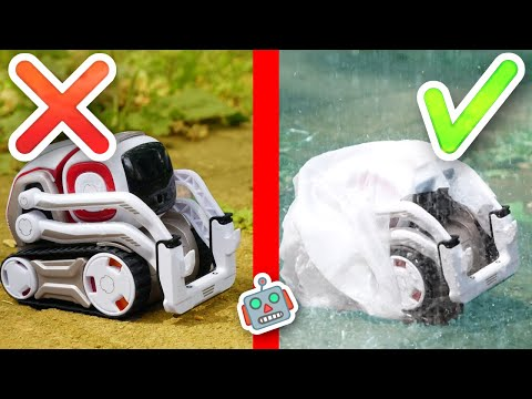 Cozmo tries 12 CRAZY life hacks from 5-Minute Crafts