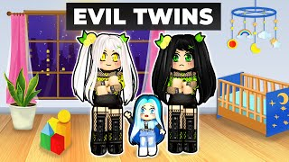 Adopted by EVIL Twins in Roblox!
