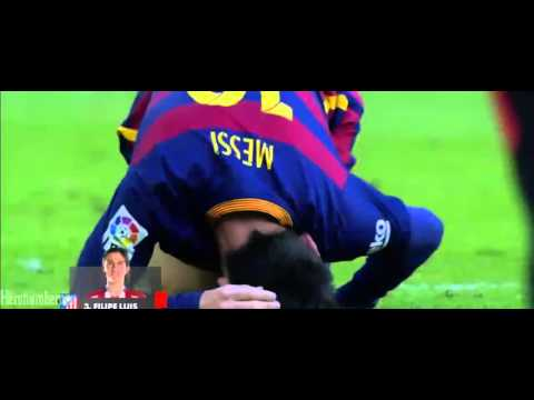 Filipe Luis horror foul Vs Messi • Red Card • Barcelona V Atlético de Madrid