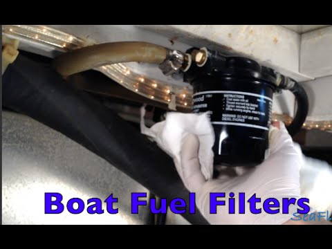 CHANGING BOAT FUEL FILTERS Racor Attwood Sierra Fuel Water Separators By Sea Flush