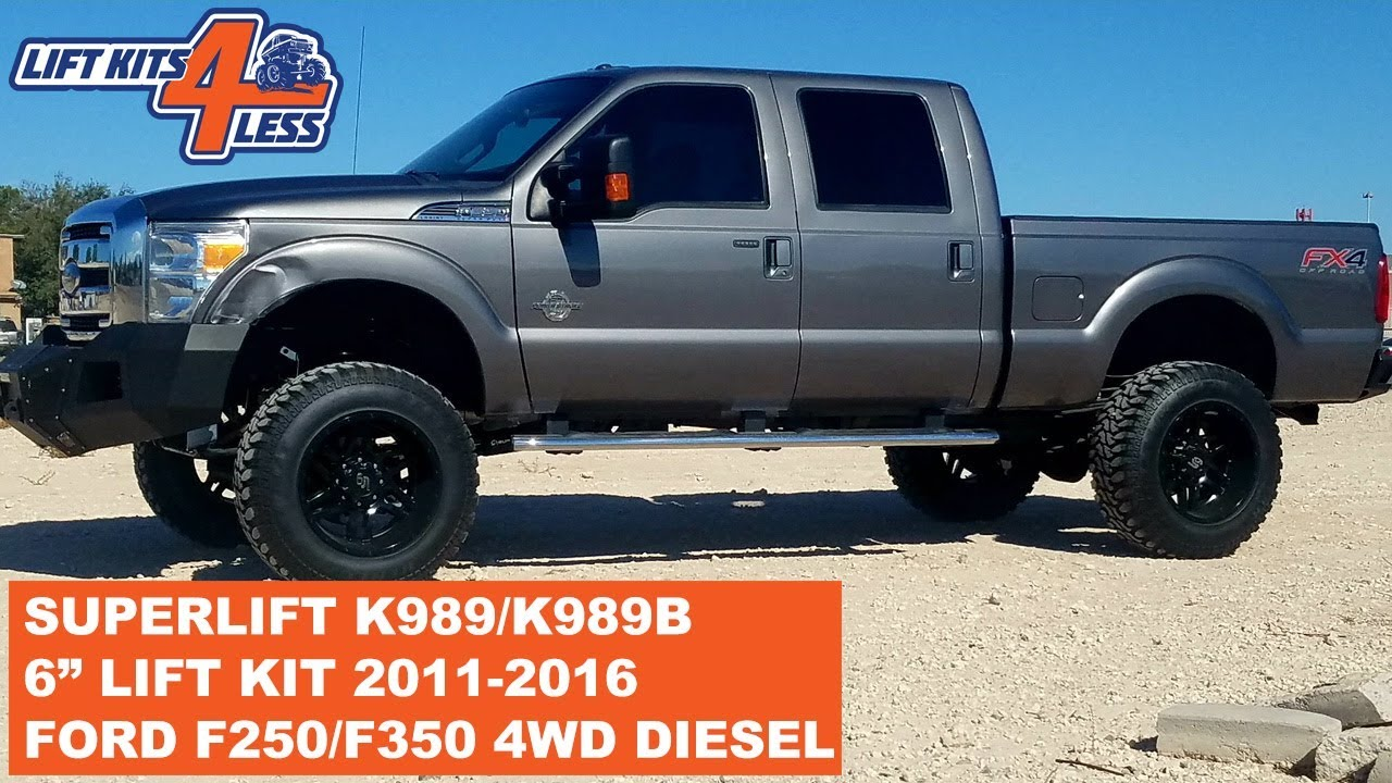 Superlift K989 K989b 6 Lift Kit For 2011 2016 Ford F 250 F 350 4wd