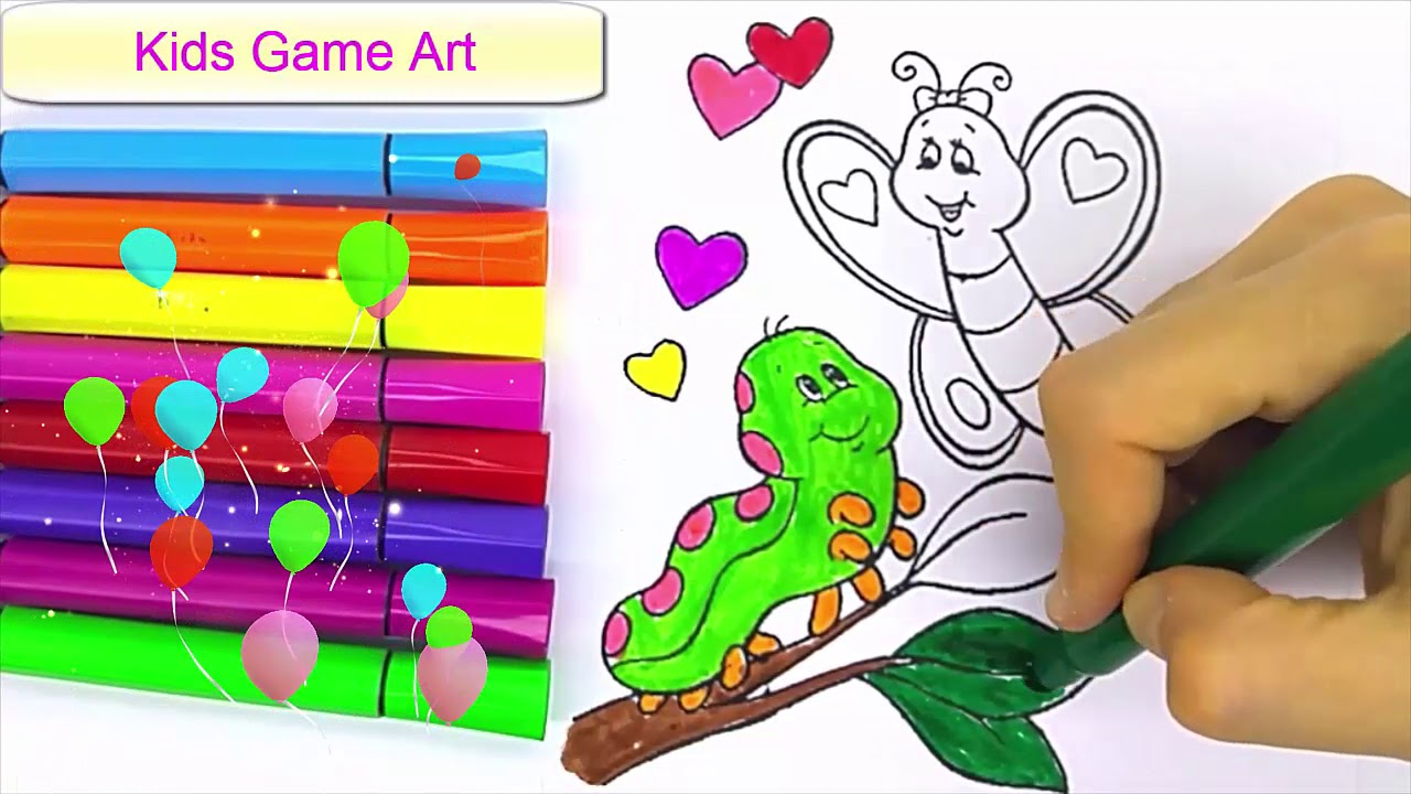 Buterfly Painting Kids Game Jolly Toy Art Virtumente
