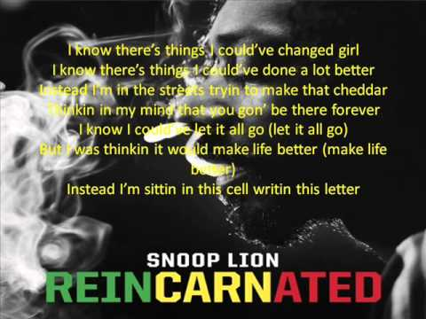 Snoop Lion - Tired of Running (feat. Akon) REINCARNATED screen lyrics