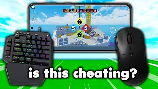 I used Mouse and Keyboard on Mobile.. Is This Cheating? (Roblox Arsenal)