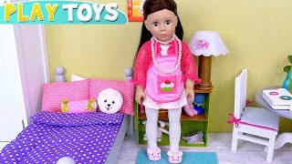 Bonnie Pearl Baby Dolls Cooking Lunch Kitchen Toys! باربي الطبخ Puppe kochen cuisine cozinha boneca