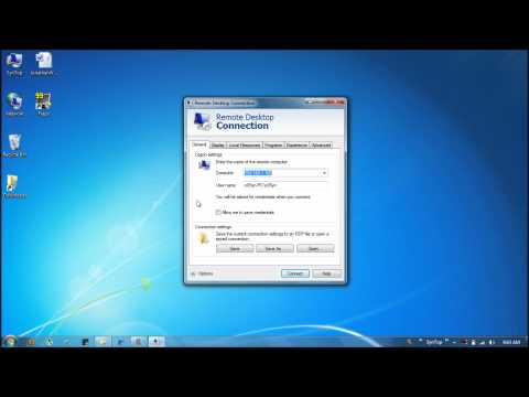 How to Use Windows Remote Desktop Connection (RDC)