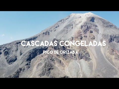 Las cascadas congeladas del Volcán Pico de Orizaba