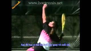 Урок теннис Подача Видео Большого тенниса