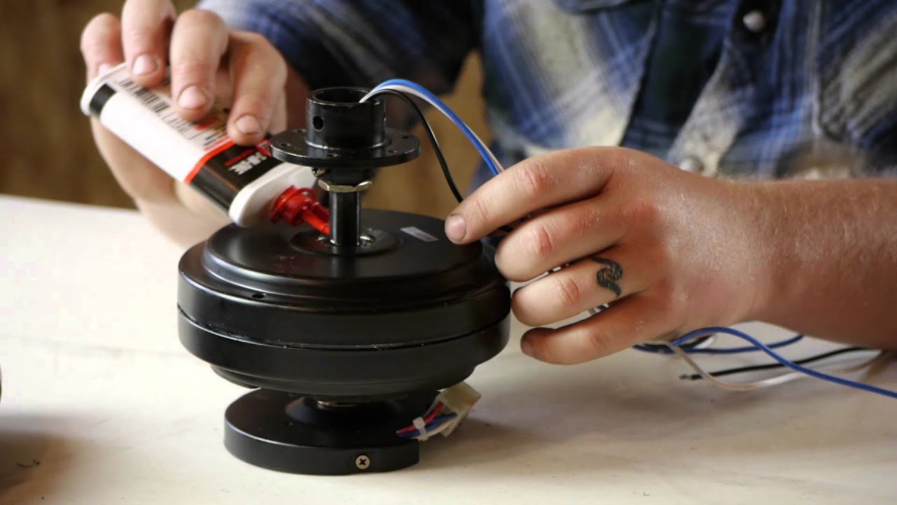 How to oil a ceiling fan ceiling fan maintenance youtube for Hunter ceiling fan motor
