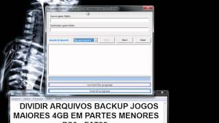 [Tutorial PS3] Dividir Arquivos Backup Jogos Maiores 4GB em parte Menores (FAT32) [File Splitter]