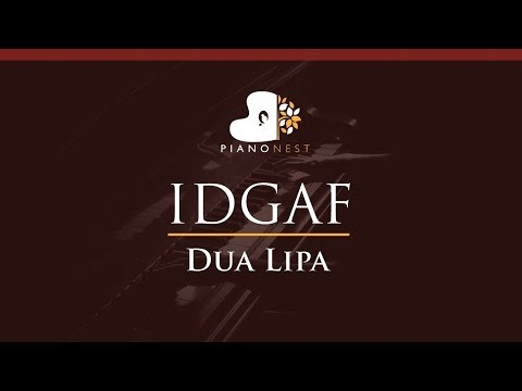 Dua Lipa - IDGAF - HIGHER Key (Piano Karaoke / Sing Along)