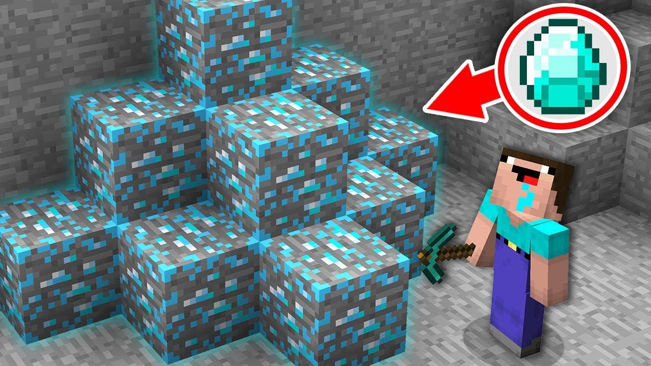 NOOB DIGGING MINE AND FOUND THIS SECRET DIAMOND ORE! Minecraft - NOOB vs PRO