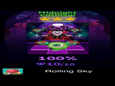 Rolling Sky Level 22 - Midnight Carnival - Completed All Diamonds And Crowns