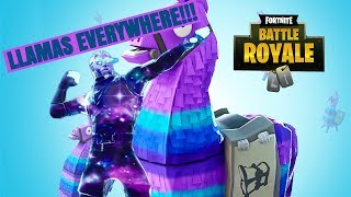 GALAXY SKIN finds 2 LLAMAS in one game | FORTNITE MOBILE | W | IPAD PRO