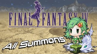 Final Fantasy IV 3D - All Summons