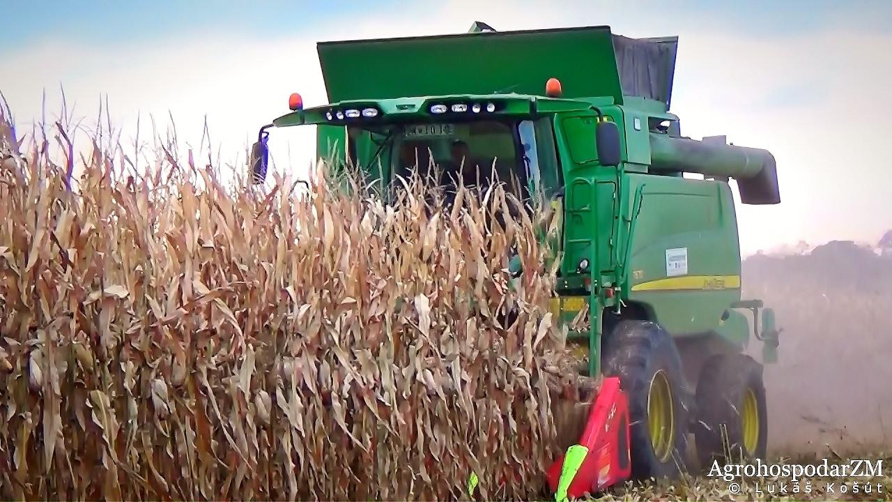 JOHN DEERE T670 & CASE IH 9120 Axial Flow - Corn Harvest