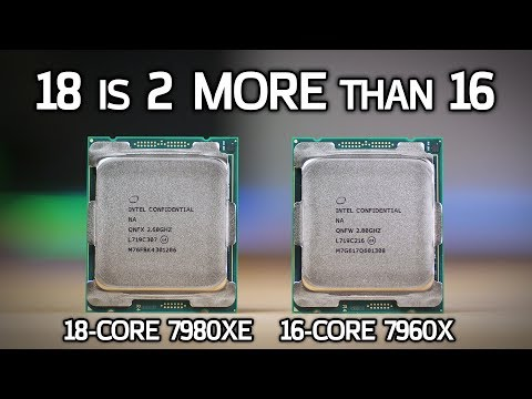Intel 7980XE and 7960X vs AMD 1950X! 18-Core i9 Benchmarks & Review