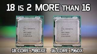 intel 7980xe and 7960x vs amd 1950x 18 core i9 benchmarks review