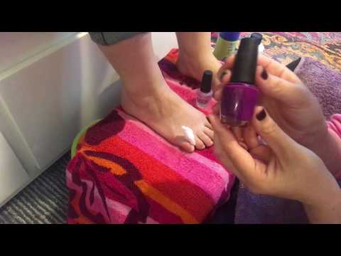 ASMR Pedicure On Real Person/Foot Massage