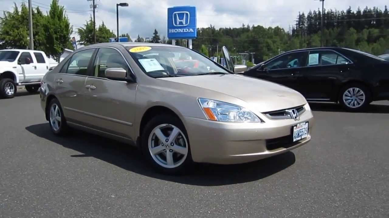 2005 Honda Accord Gold Stock 6238a Walk Around