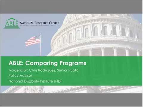 WEBINAR: A Closer Look at the New ABLE Programs