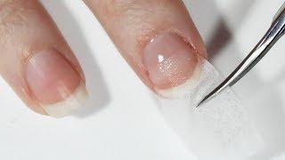 Нарощування нігтів базою на серветку