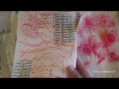 Mixed Media + Fabric Dyeing For Art Journals By Traci Bautista