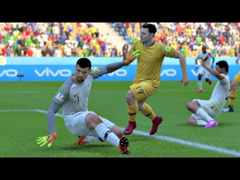 World Cup 2018 - Australia vs Peru - Group C Full Match Sim (FIFA 18)