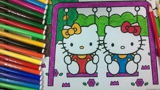 enfants de couleur 12 - coloration kitty - La chaîne pour enfants