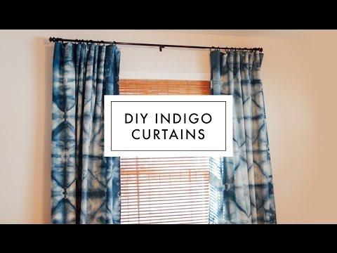 DIY Shibori Indigo Curtains