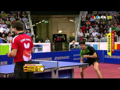 2014 Men's World Cup (ms-qf) OVTCHAROV Dimitrij - BOLL Timo [HD @1080p] [Full Match/Chinese]
