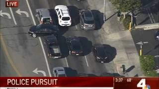 10/31/2016 Van Nuys CA Police Chase LAPD 2016 - High Speed Reckless Driver