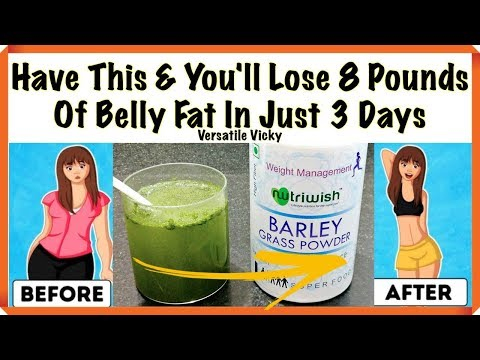 Barley Water | Drink This And You'll Lose 8 Pounds Of Belly Fat In Just 3 Days | Barley Grass Powder