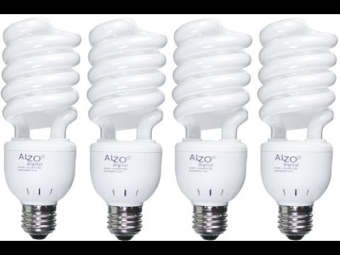 Alzo 27 watt 5500k light bulbs review & Alzo 27 watt 5500k light bulbs review - YouTube