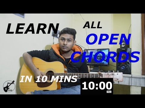 Beginner Acoustic Guitar Lesson-All Open Chords-How to play-Tutorial 6