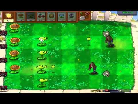 Plants vs zombies (Trồng cây bắn zombie) - Cấp độ 1-8 (Game Việt Hóa)