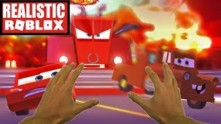 Realistic Roblox - ROBLOX CARS 3 SAVE LIGHTNING MCQUEEN ADVENTURE OBBY ! (ROBLOX CARS 3 OBBY)
