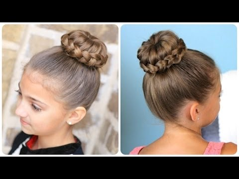 Lace Braided Sophia Lucia Bun Updo Hairstyles YouTube