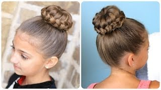 Repeat youtube video Lace Braided {Sophia Lucia} Bun | Updo Hairstyles
