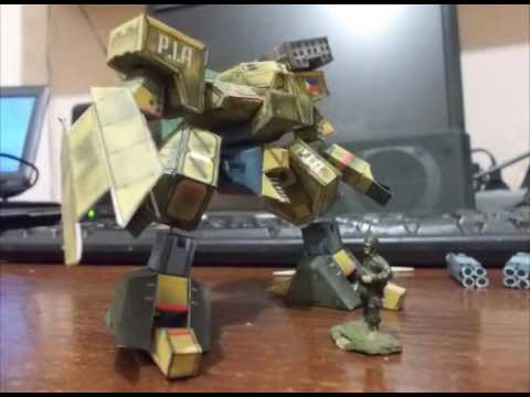 Papercraft Paper model - Front Mission - Genie (demo)