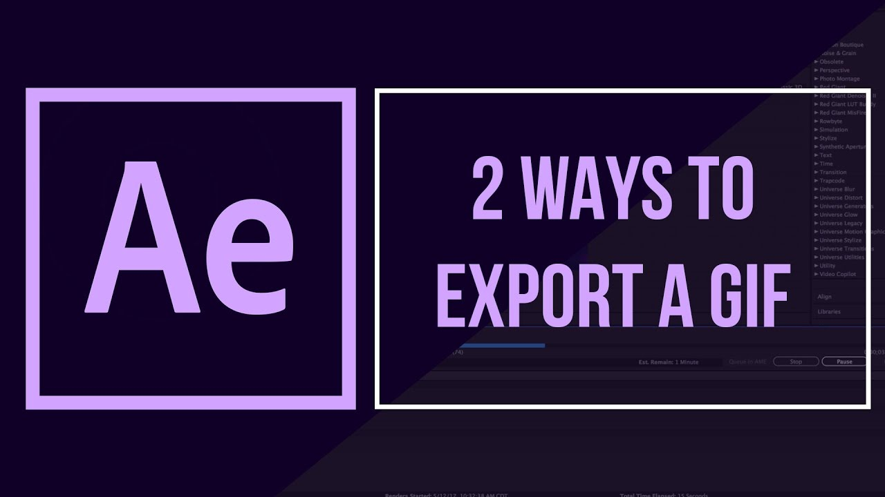 2 Ways to Export a GIF from After Effects