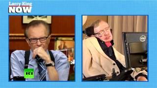 Ларри Кинг взял интервью у Стивена Хокинга