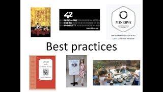 YouTube動画:学びのベストプラクティス(スライドショーと講義)