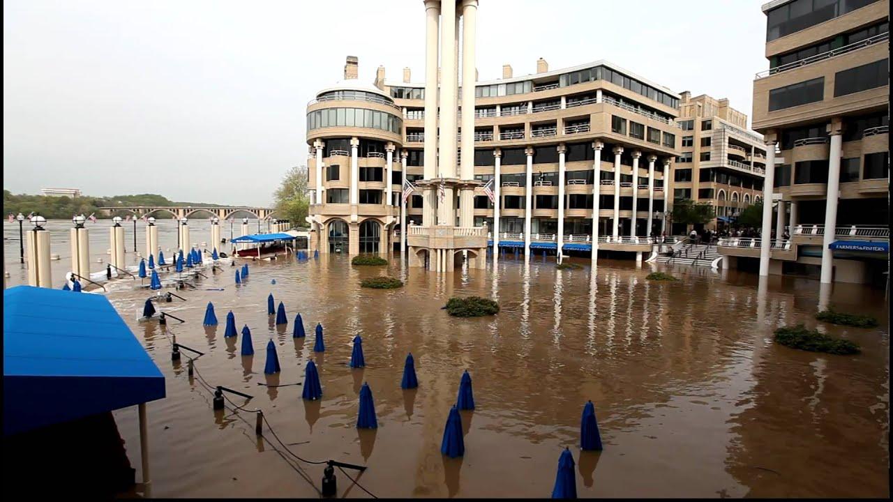 Washington Harbour Georgetown Waterfront Flooded Part 2 April 18 2017