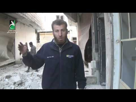 Damascus- Tishreen: destruction of the only medical point in Syrian regime shelling 22 2 2017